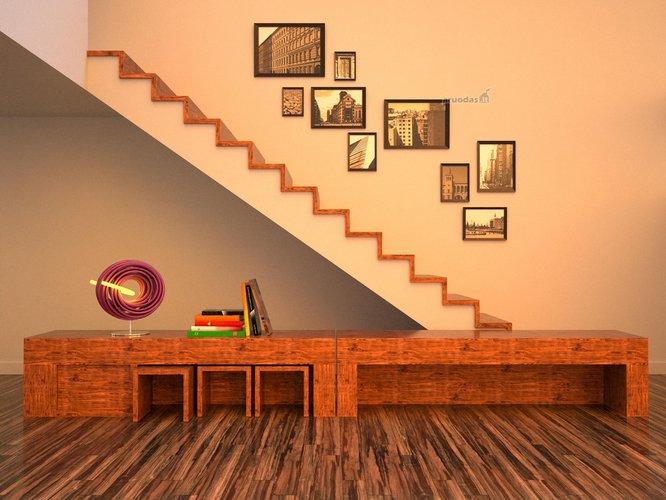 Originalaus dizaino darbo erdvės interjeras