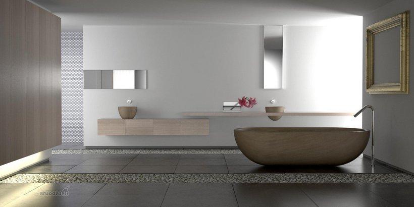 Pailgo vonios kambario dizainas