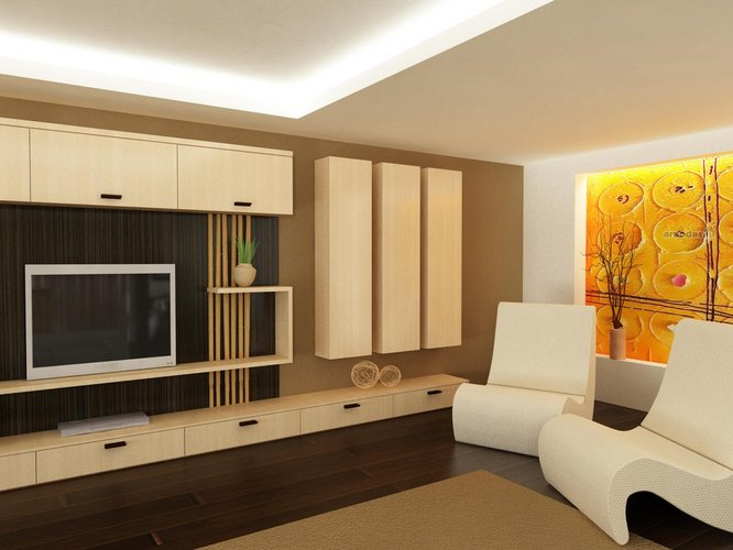 Modernių formų interjero dizainas