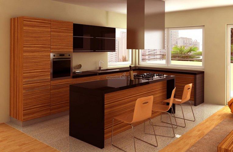 Linijuota tekstūra virtuvėje
