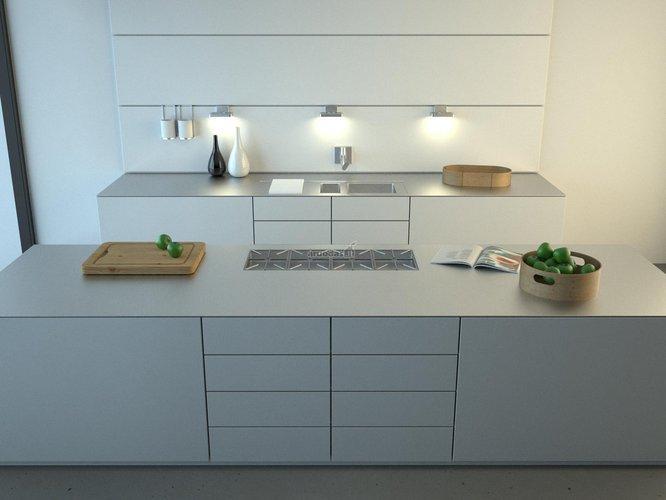 Minimalistinis virtuvės interjeras