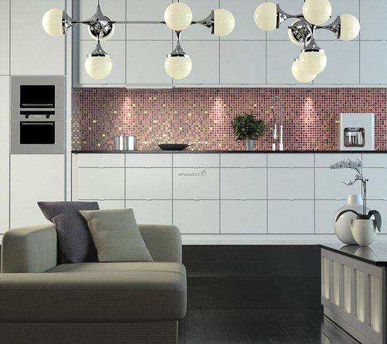 žaisminga virtuvės sienos tekstūra