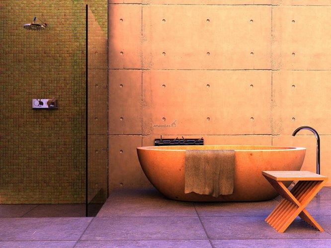 Romantiško stiliaus vonios dizainas