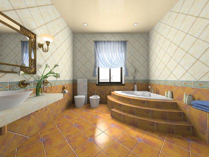 Erdvios, paaukštintos vonios interjeras