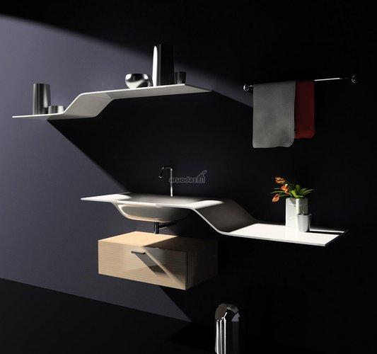 Modernizmas vonios kambaryje