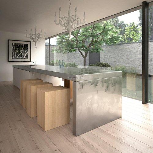 Virtuvė su vaizdu į lauką
