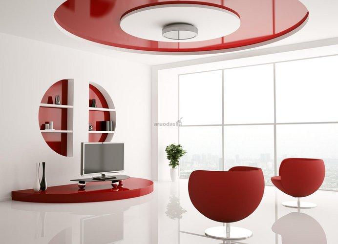 Balta - raudona interjeras