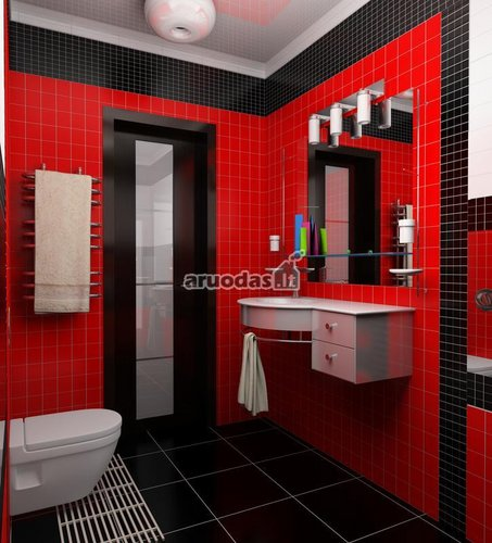 Raudonas vonios kambarys