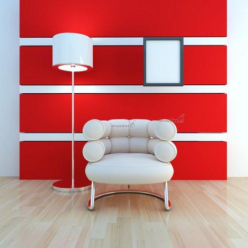 Modernus raudona - balta interjeras