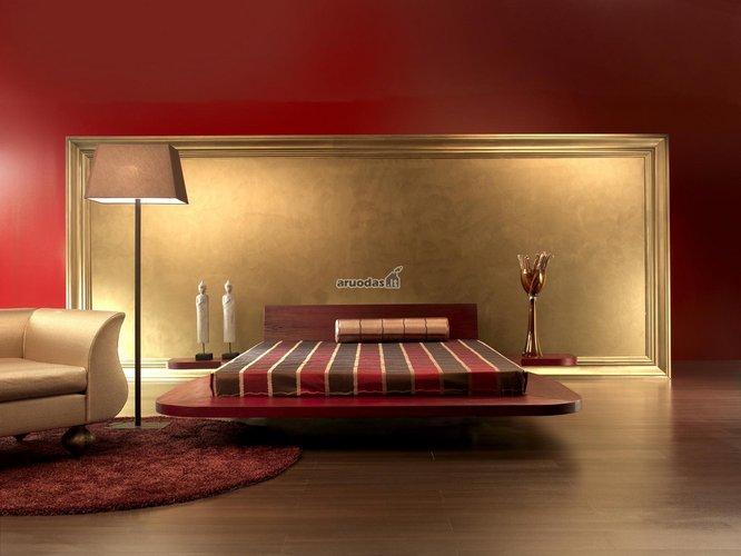 Raudonas, modernus miegamasis