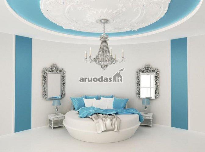 Mėlyna - balta miegamasis