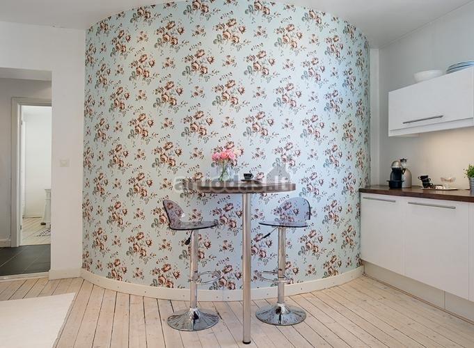 šviesus virtuvės interjeras
