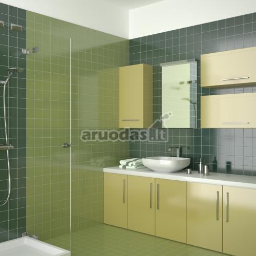 žalių atspalvių vonios kambario plytelės