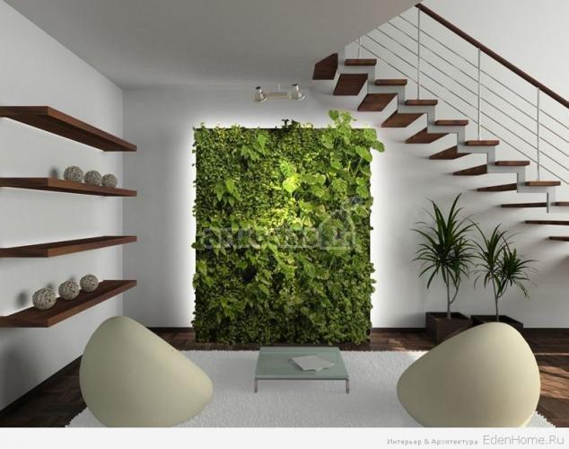 žalias, ekologiškas akcentas interjere