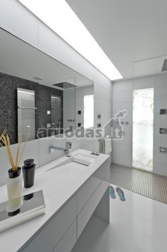 Nespalvoto vonios kambario interjeras