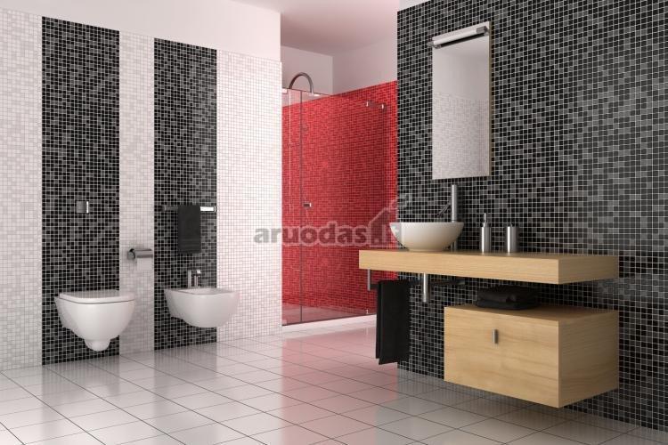 Banta - juoda - raudona interjero spalvos