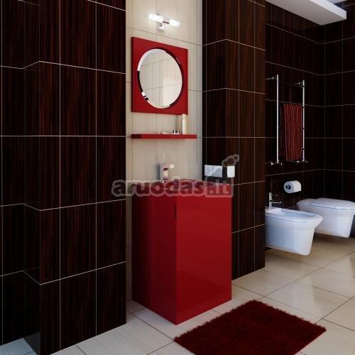 Ruda - raudona - balta spalvų derinys