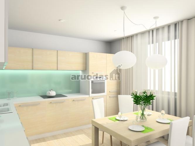 šviesios virtuvės dizainas