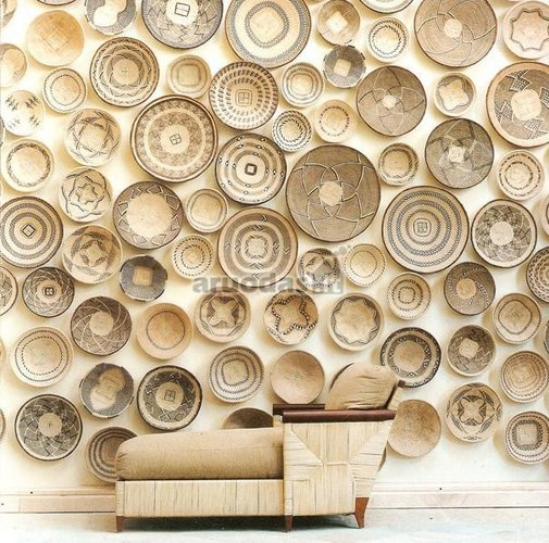 Dramblio kaulo spalva dekoruota siena