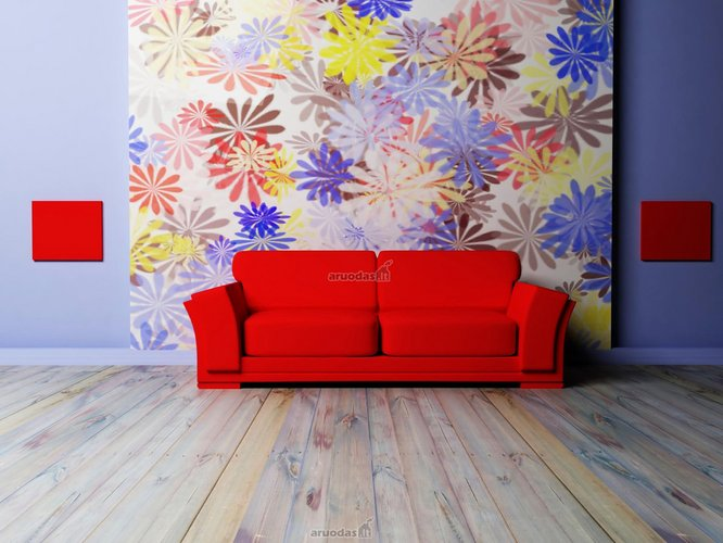 Spalvingų gėlių fotopaveikslas sienai dekoruoti
