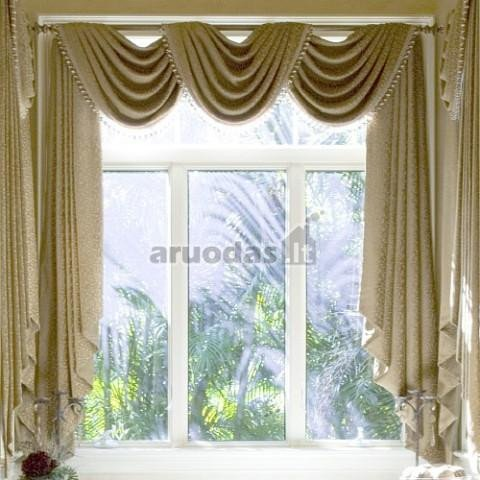Užuolaidos dideliam langui