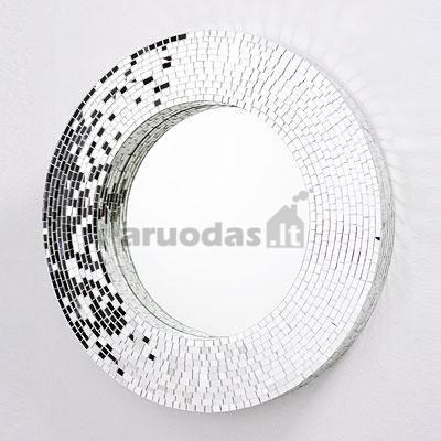 Ovalios formos veidrodis blizgiu rėmeliu