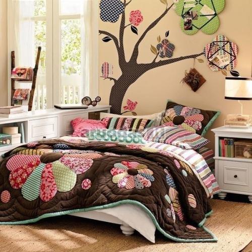 Miegamojo sienos dekoras, fototapetas medis