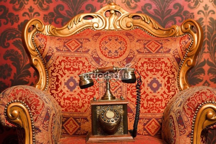 Interjero detalė - senovinis telefonas