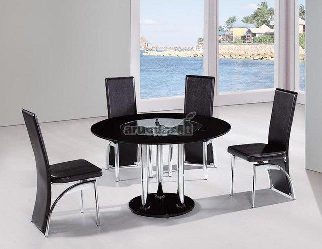 Valgomojo komplektas: staliukas ir 4 kėdės