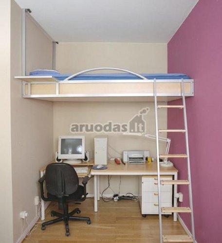 Miegamasis ir darbo kambarys viename