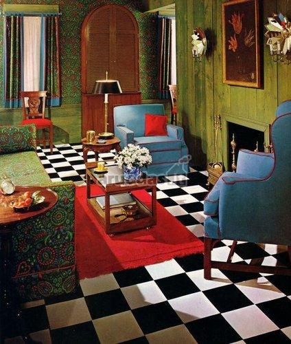 šachmatinės grindys juoda - balta