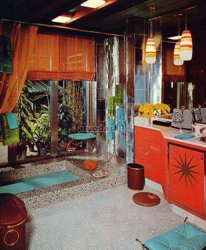 Ryški retro stiliaus vonia