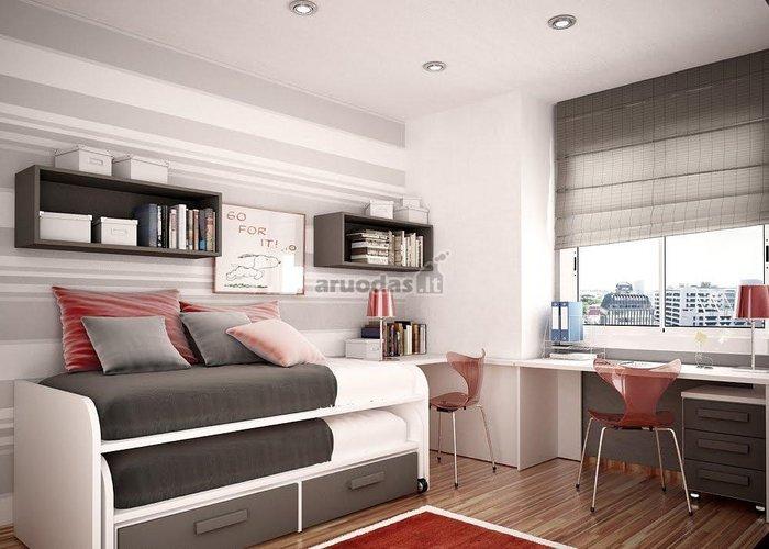 Erdvę taupanti lovos konstrukcija