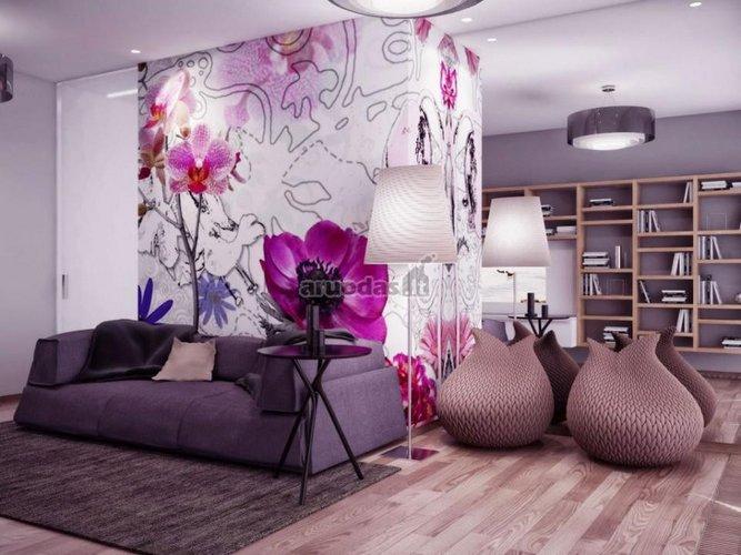 Ryškus, violetinių atspalvių fototapetas
