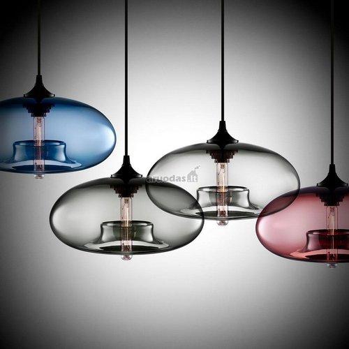 Peršviečiamo stiklo, spalvoti šviestuvai
