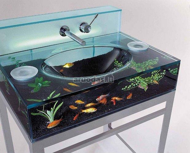 Kriauklė - mini akvariumas