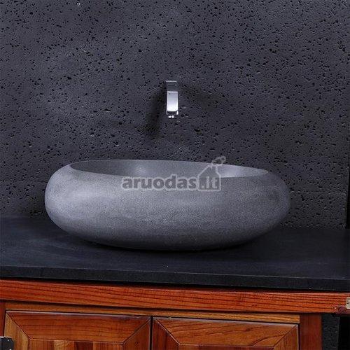 Apvali, akmeninė kriauklė