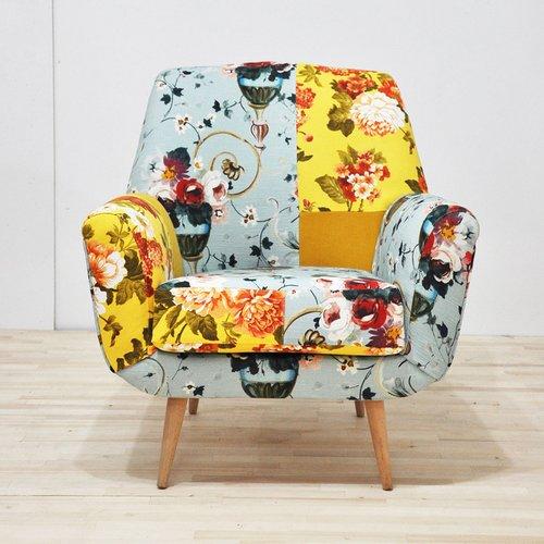 Modernus ir ryškus fotelis