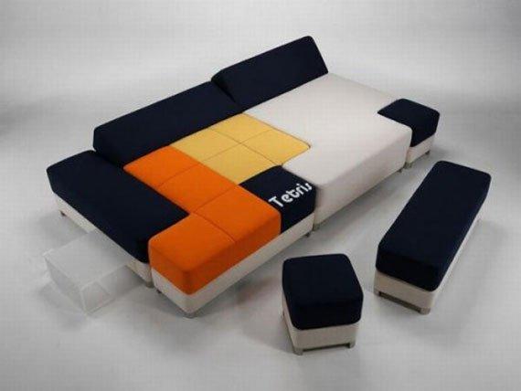 Originalus ir unikalus sofos dizainas: tetris