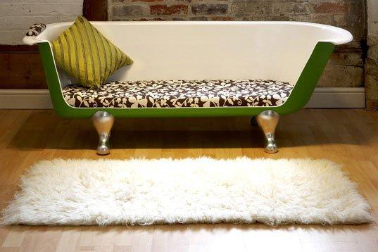 Originalus ir unikalus sofos dizainas: vonia