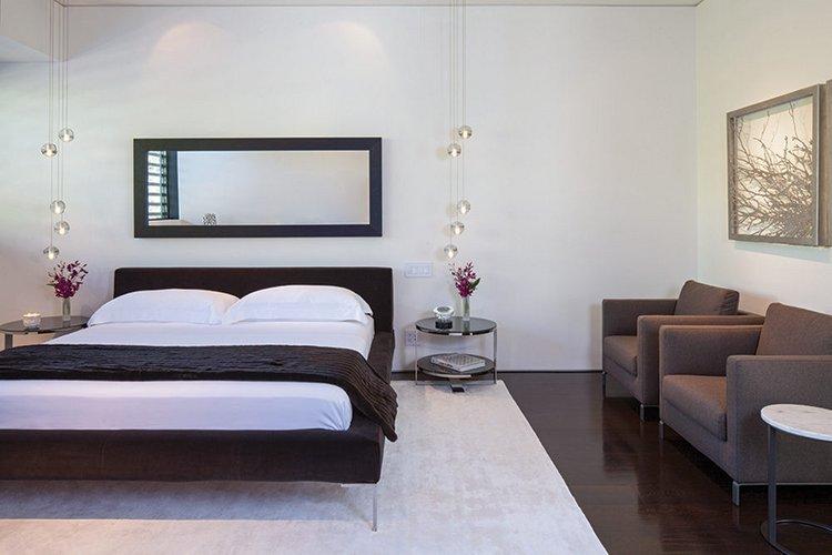Modernus, minimalistinis miegamasis