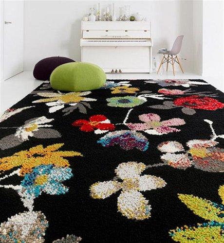 Gėlėtas, retro stiliaus kilimas