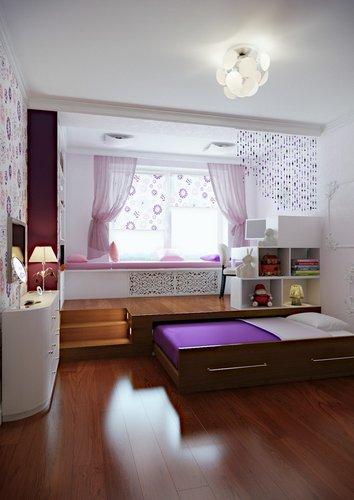 Ištraukiama vaikų kambario lova