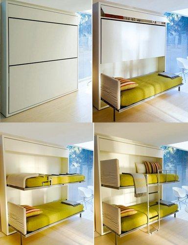 Transformuojama dviaukštė lova