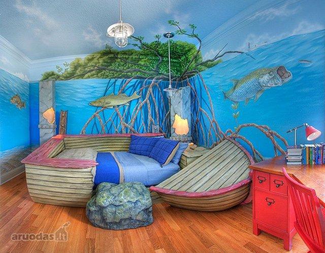 Povandeninis pasaulis vaiko kambaryje