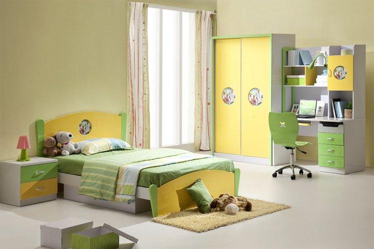 šviesus vaiko kambario dizainas