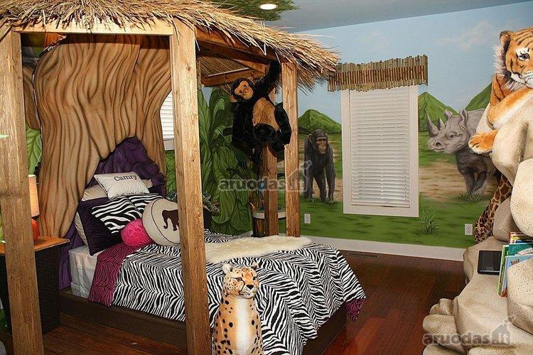 Džiunglių tematika vaiko kambaryje