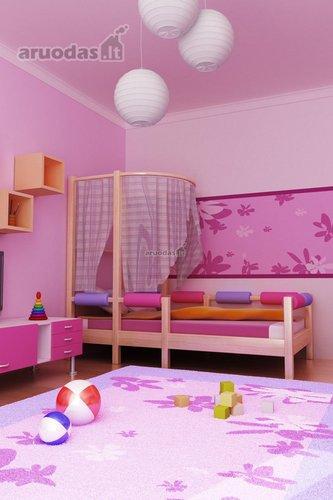 Alyvinė spalva mergaitės kambario dizaine