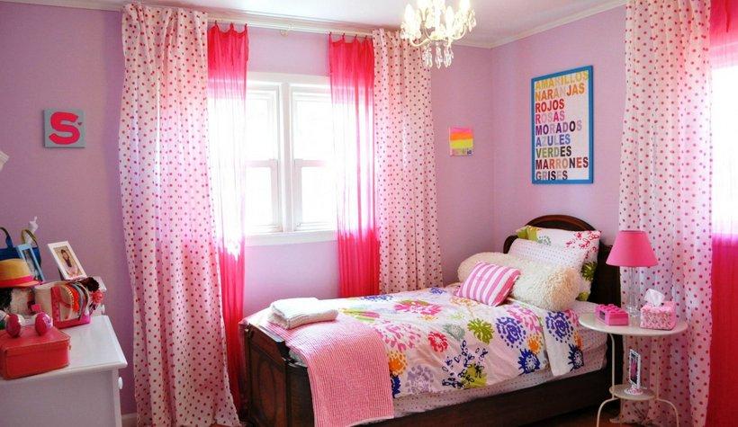 žaismingas ir jaukus mergaitės kambarys