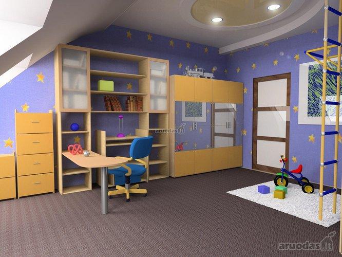 žvaigždėtas dangus vaiko kambaryje